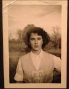 The author, in her varsity uniform, circa 1950