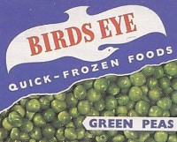 Birds Eye Frozen Peas circa 1955