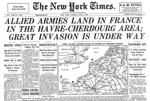 New York Times June 6 1944