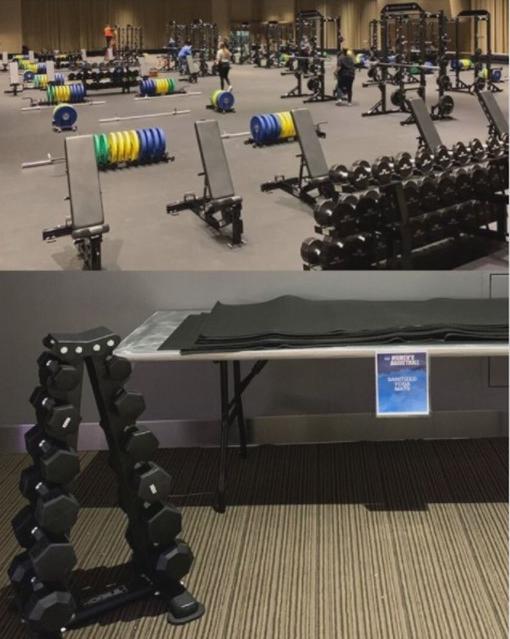 NCAA Men's and Women's Weight Rooms
